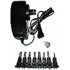 30w Universal Power Supply Reversible Polarity 3v-12 Volt DC 2.5 amp USB Port 8 Adapter Tips