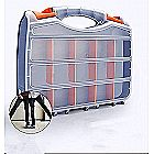 Craft Sewing Storage Box - 2 Sided Dividers Carrying Case Organizer with 32 Adjustable Compartments