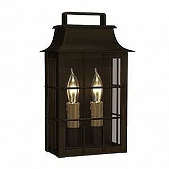 Portfolio Shirehill Otdoor Wall Lantern - Black Iron Finish - 13.25 x 8 x 4.75 inches