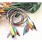 5pc Alligator Clip Test Leads for Electronics Prot