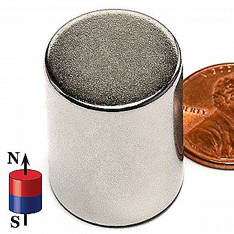 3/4-in x 1-in Rare Earth Neodymium Cylinder Magnet Strong Cylindrical Rod