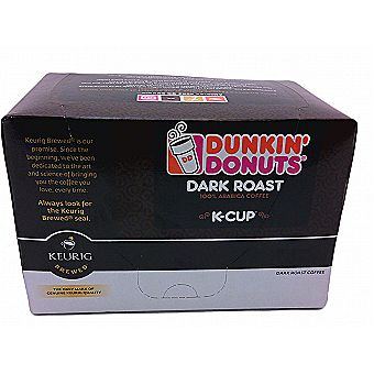 Dunkin Donuts K-Cups Dark Roast Flavor 12 Kcup Pack for Keurig