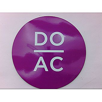 DO AC Round Magnet HOT PINK