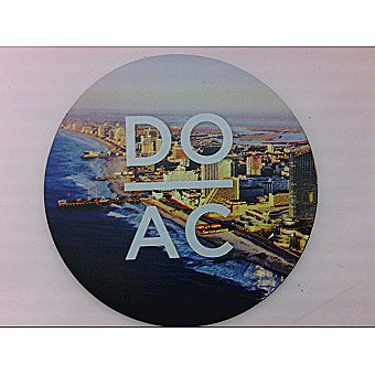 DO AC Round Magnet with Atlantic City Background