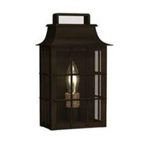 Portfolio Outdoor Shirehill Wall Lantern - Black Iron Finish - 10 x 6 x 3.75 inches