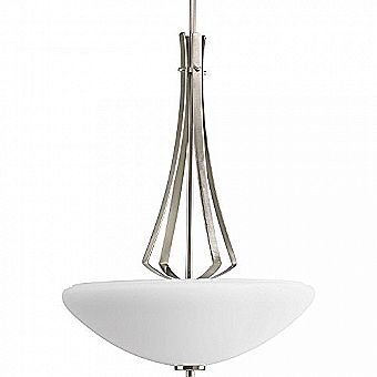 Progress Lighting Rave Brushed Nickel Pendant Chandelier