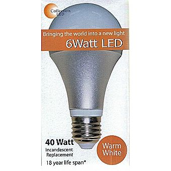 40 Watt Equivalent 6 Watt LED 3000K Warm White 382 Lumens