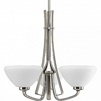 Progress Lighting Rave 3-Light Brushed Nickel Chandelier