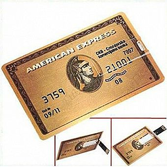 64GB USB Flash Drive Credit Card Style American Express