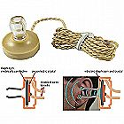 Crystal Earphone High Impedance Piezoelectric Ceramic Piezo Earpiece