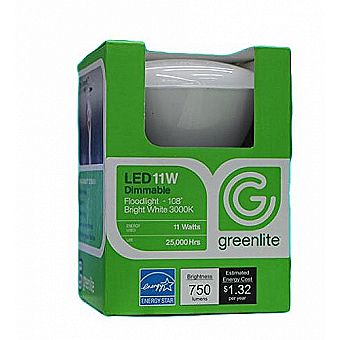 Greenlite 60w Equiv Dimmable LED Light Bulb - Only Uses 11w