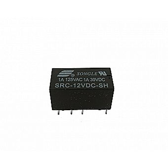 12v DC Relay - DPDT PCB 8-Pin Mount - Non-Latching Non-Polarized Electronic Low Signal High Sensitivity
