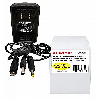 5V 2.5A Raspberry Pi & Orange Pi Power Supply SBC Adapter Kit