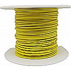 100ft 22 AWG Solid Copper Wire - UL1007 Rated 22ga Yellow Insulated Tinned Hook-Up Wire on Plastic Spool