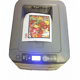 OkiData C711N Color LED Printer - Used with Crack in Housing