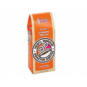 Dunkin Donuts Ground Coffee 1 lb / 16 oz Bag Dunkin' Decaf One Pound
