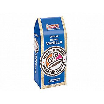 Dunkin Donuts Ground Coffee 1 lb / 16 oz Bag French Vanilla One Pound