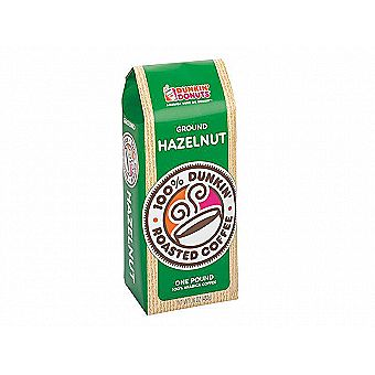 Dunkin Donuts Ground Coffee 1 lb / 16 oz Bag Hazelnut One Pound