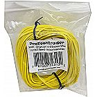 100ft 22AWG - Solid Copper Wire Yellow PVC Insulat