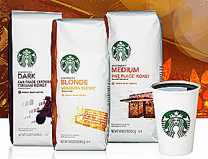 Starbucks Whole Bean Coffee 16 oz / 1 lb 100% Arabica One Pound