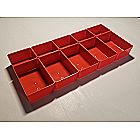 20 Red Cups for Our Double-sided Parts Storage Organizer Carrying Case