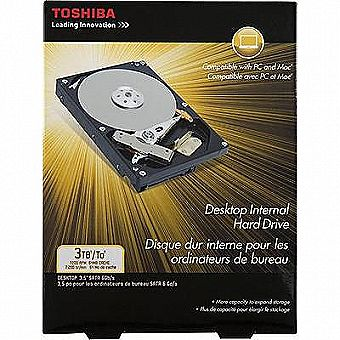 "Toshiba 3 TB Internal 7200 RPM 3.5"" PH3300U-1I72 Hard Drive SATA 6mb"